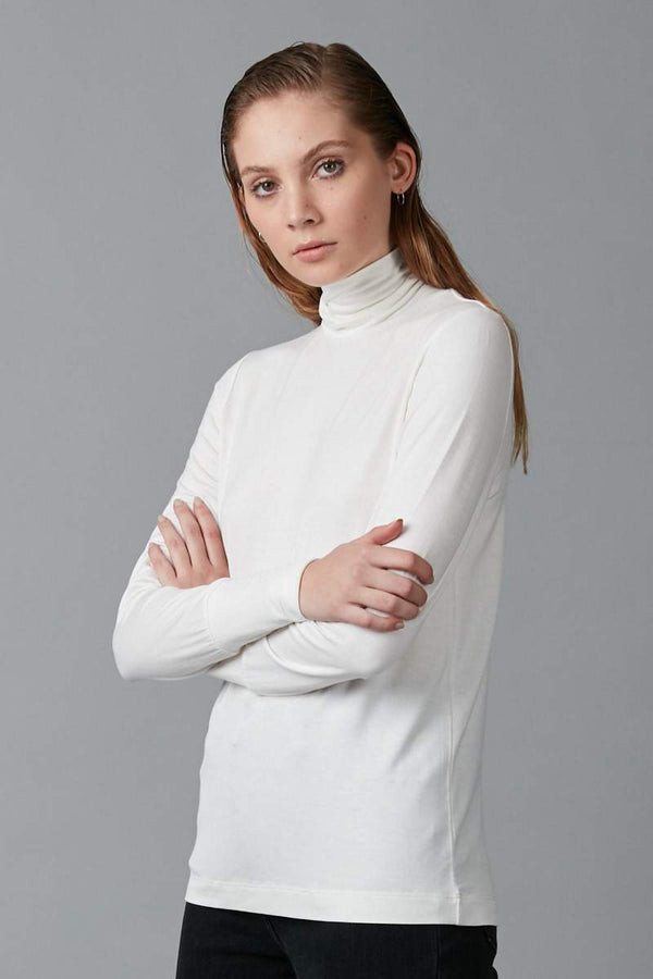 OFF WHITE KIMI MODAL ELASTANE TURTLENECK SKIVVY