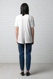 KANO SPLIT BACK TEE - IVORY