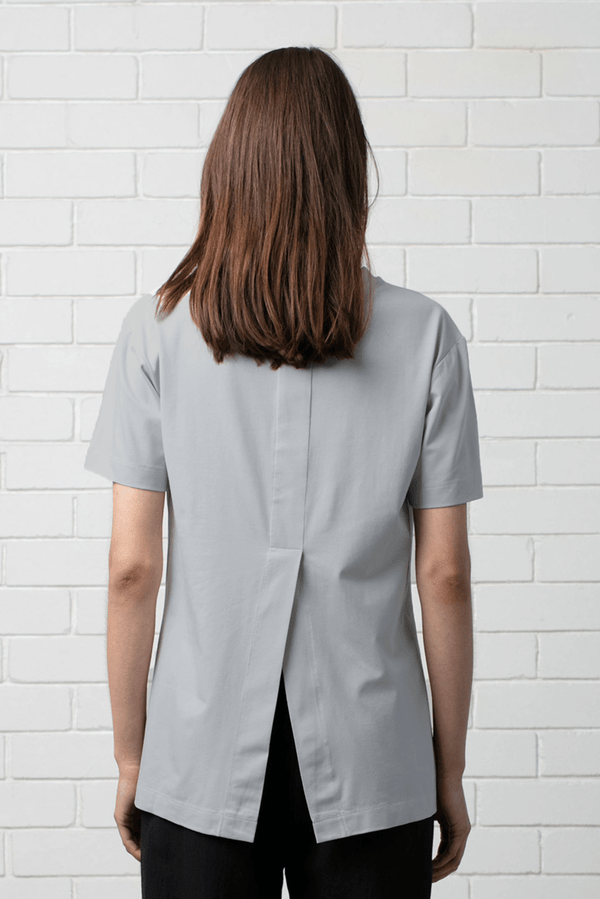 GREY MARLE COTTON MODAL KANO TEE