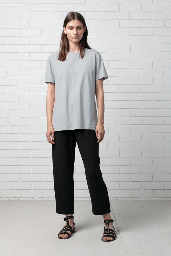 GREY MARLE COTTON MODAL KANO TEE - Nique Clothing