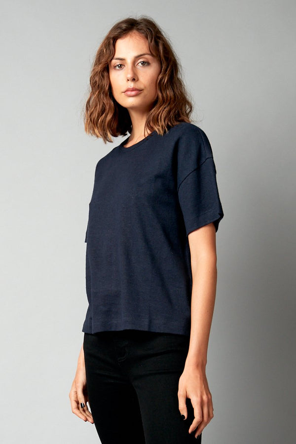 INK JOBEN HEMP COTTON CROPPED TEE - Nique Clothing
