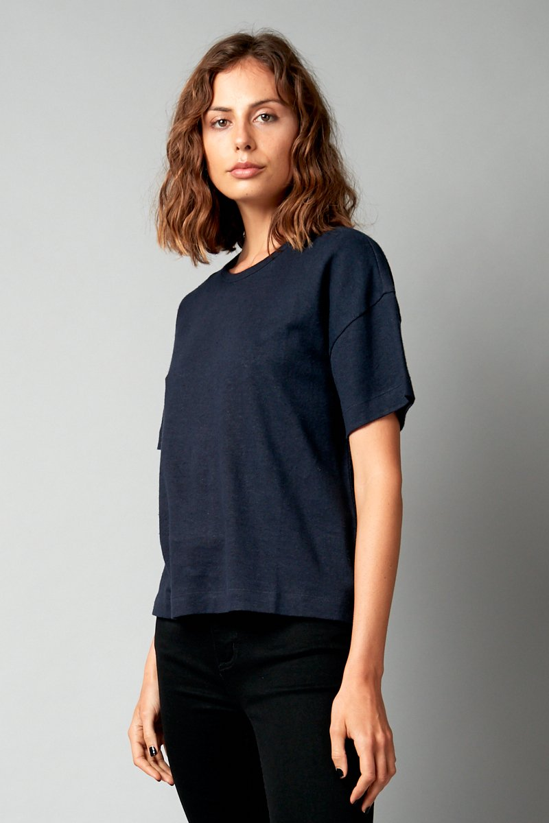 INK HEMP COTTON JOBEN CROPPED TEE