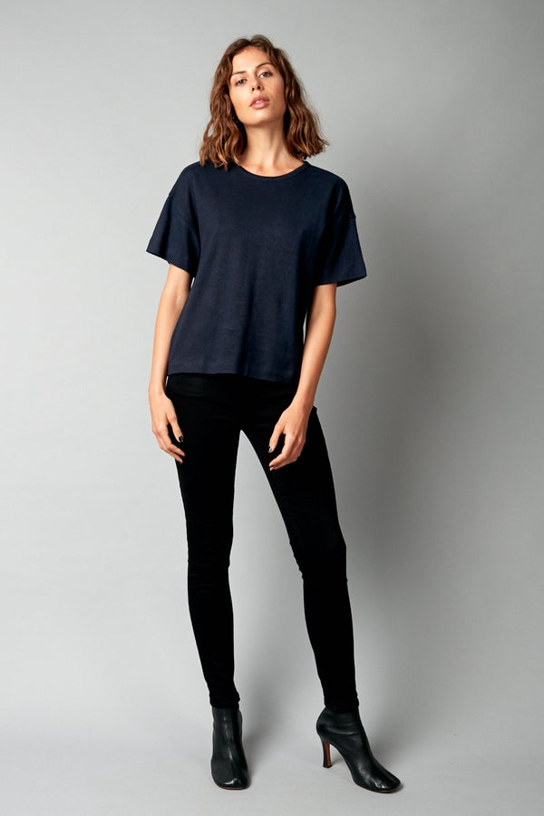 INK JOBEN HEMP COTTON CROPPED TEE