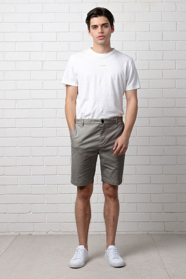 Light Grey Mieko Drop Crotch Short