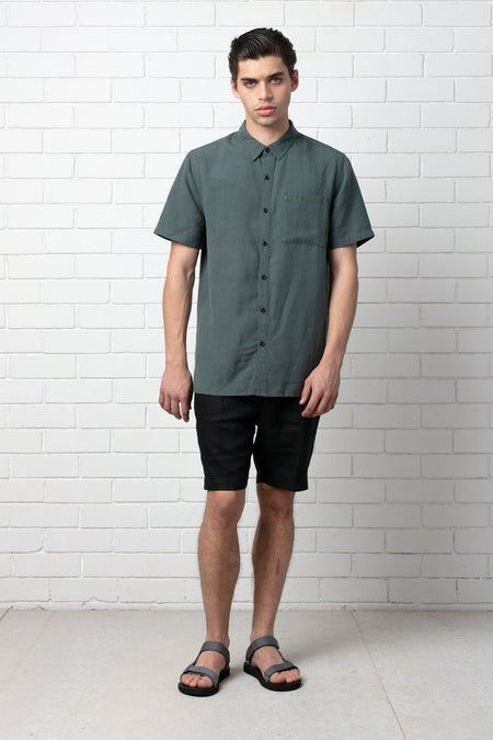 MORI PRINT REGULAR SHORT SLEEVE SHIRT