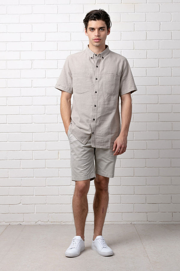 AZAMI RELAXED SHORT SLEEVE SHIRT - Nique Clothing