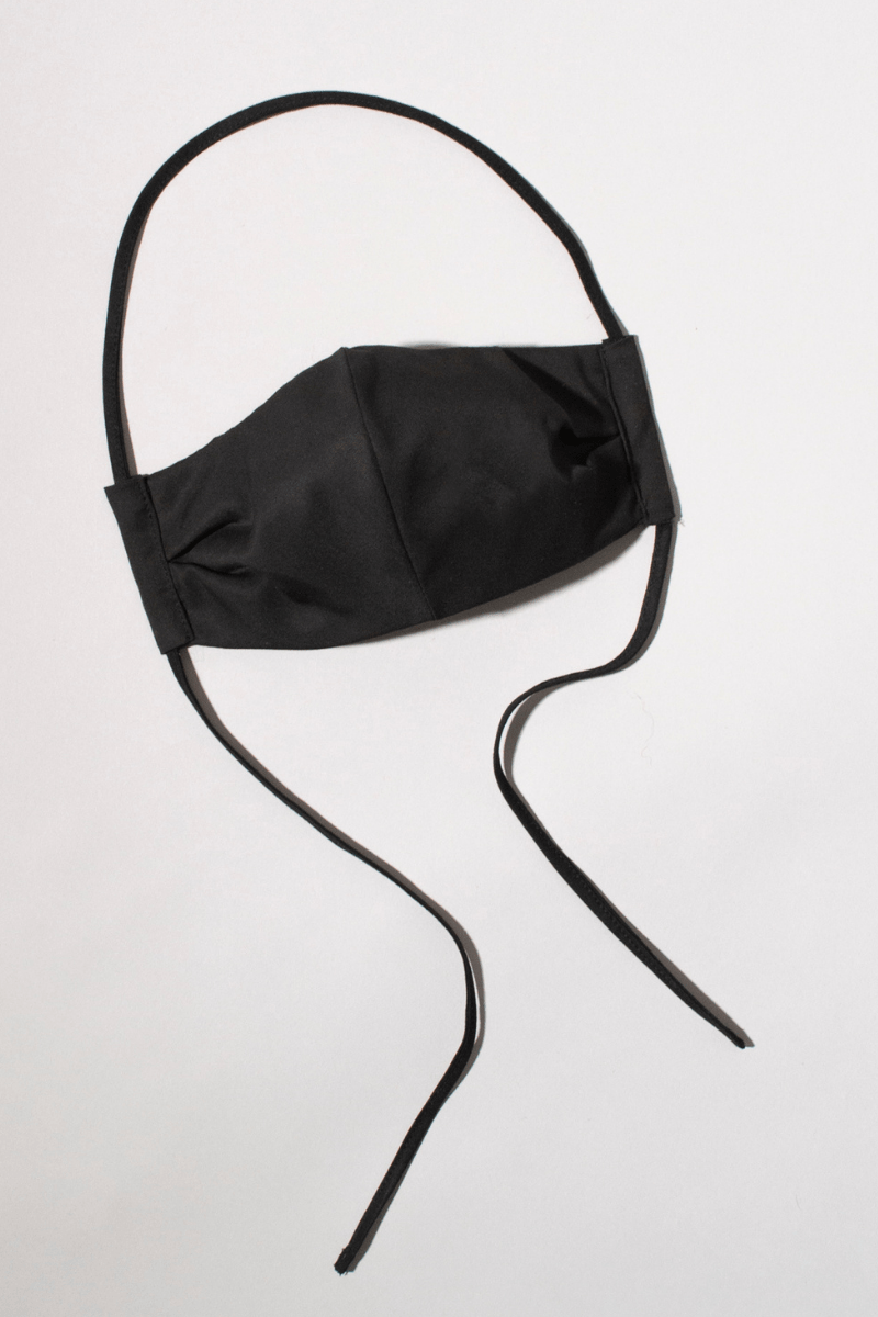 BLACK NIQUE x GLIESE (504) LYOCELL ADJUSTABLE TIE FACE MASK