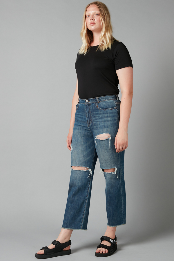 Blue  Lloyd Boyfriend Art Wash Denim Jeans
