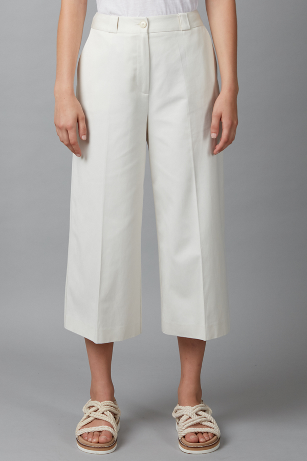 Chalk Body Cotton Cropped Pants