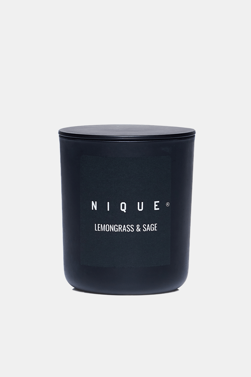 LEMONGRASS AND SAGE LARGE CANDLE - Nique Clothing