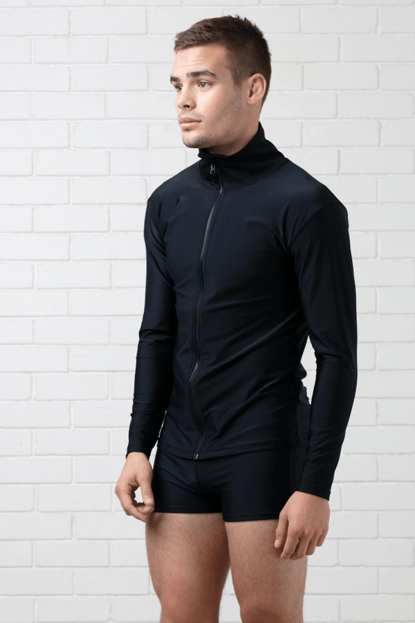 BLACK SWIM JACKET SPF 50