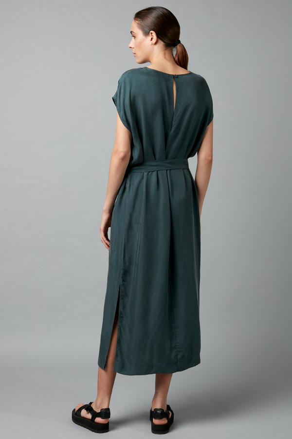 PINE ESCAPE CUPRO DRESS
