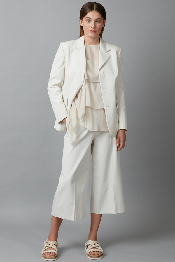 Chalk Body Cotton Tailored Jacket