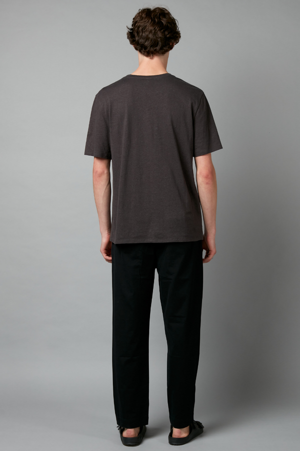 Charcoal Baer Hemp Cotton Tee
