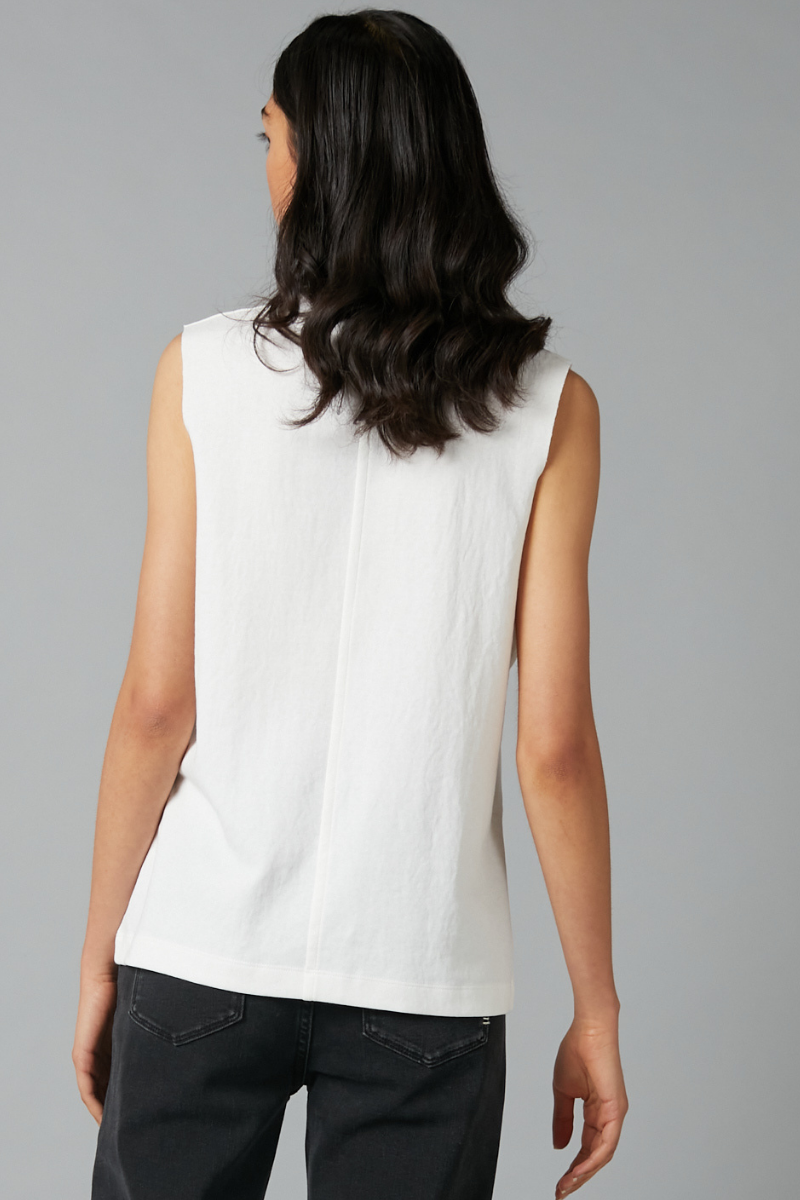 Ivory Box Cotton Tank Tee