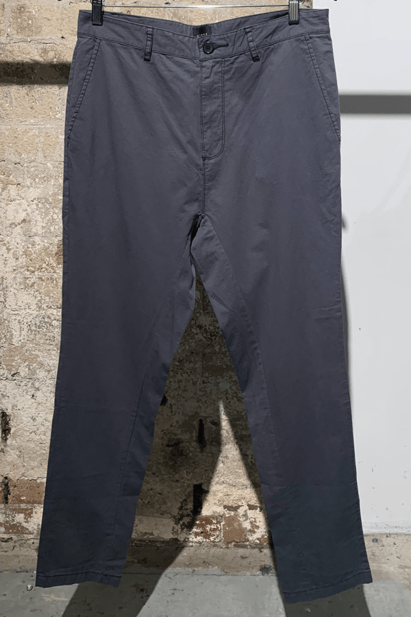 CHARCOAL HAVANA COTTON LOW RISE PANT - Nique Clothing