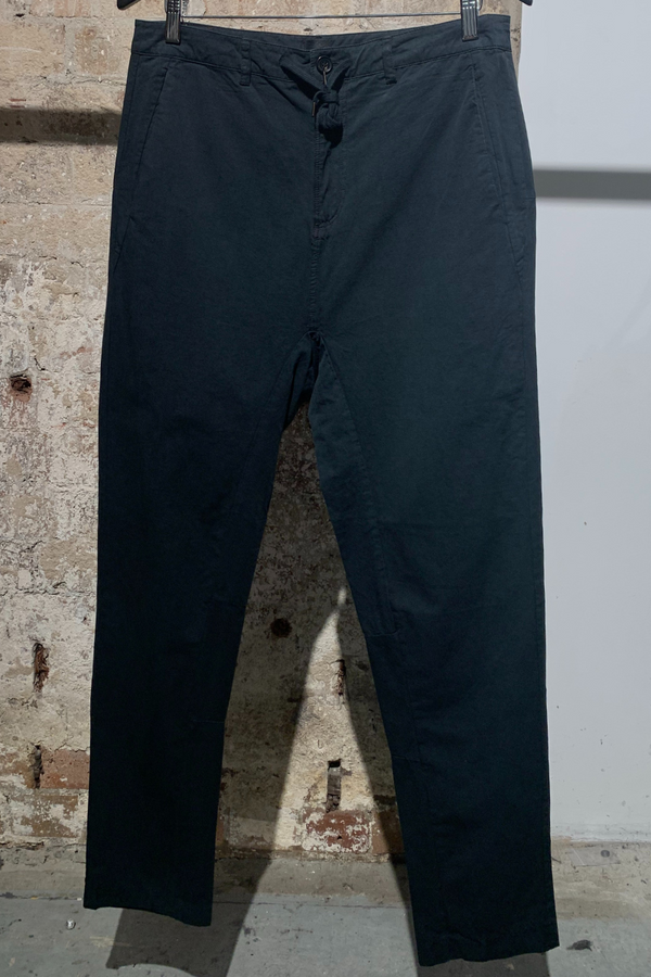 MENS BLACK PARALLEL COTTON PANT