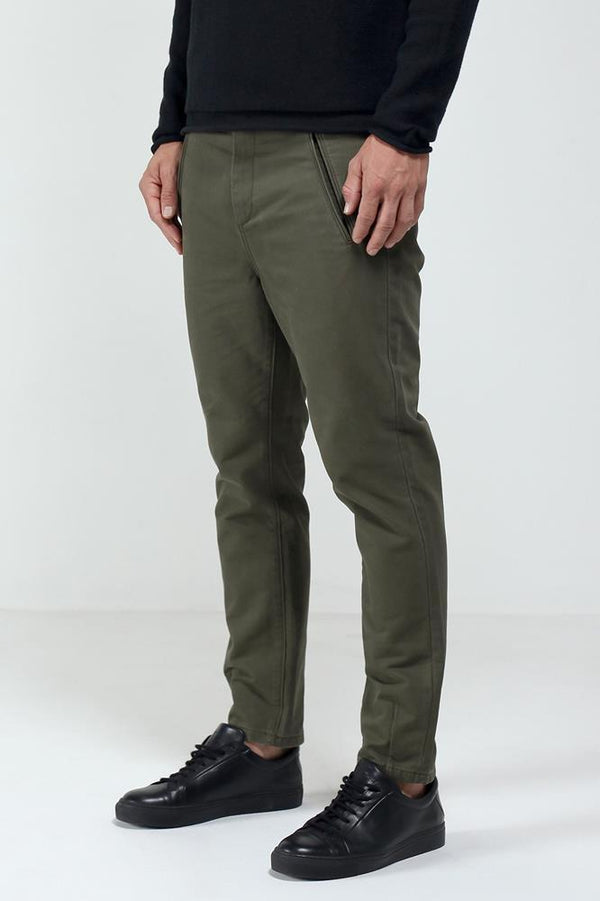 KHAKI NIJIMA COTTN PANT - Nique Clothing