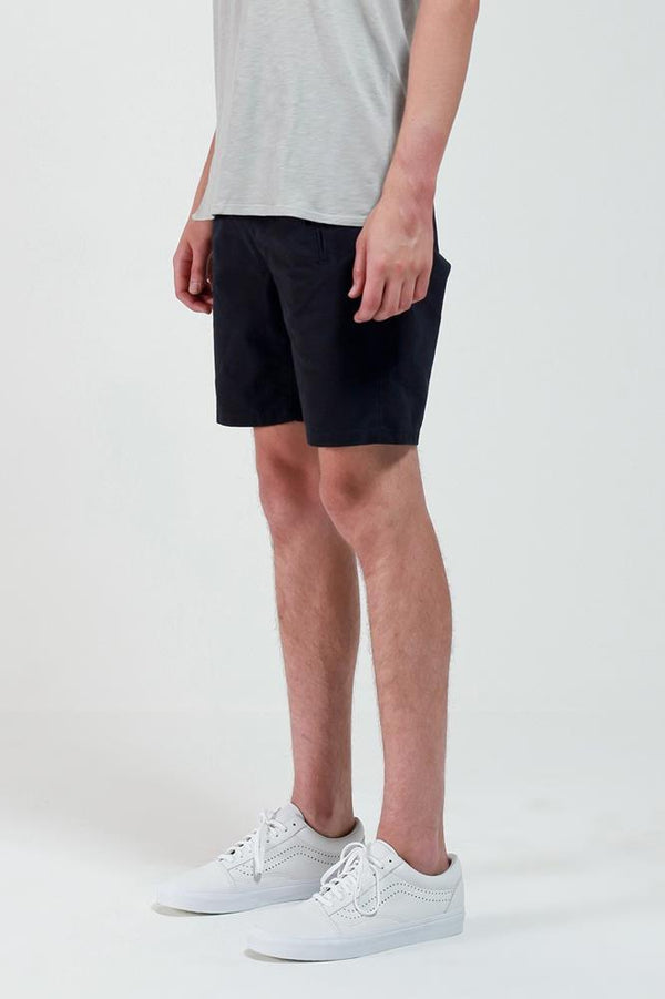BLACK NIJIMA COTTON SHORT - Nique Clothing