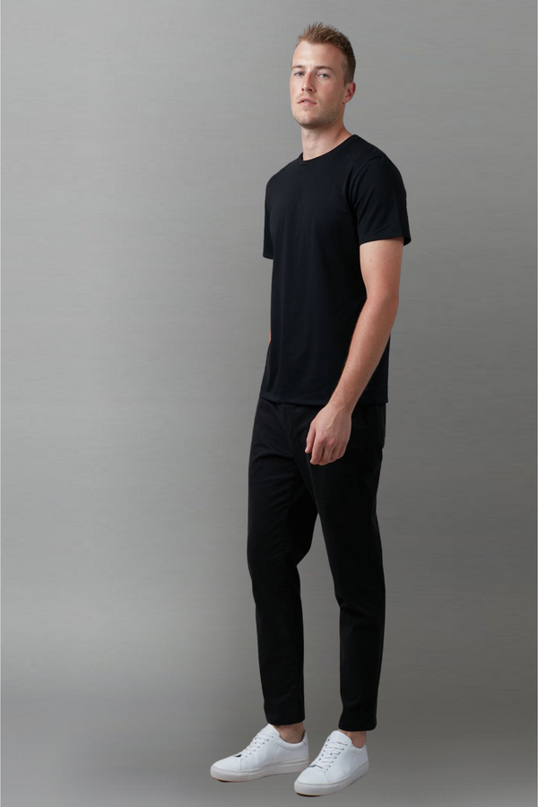 Black Tait Mercerised Cotton Tee