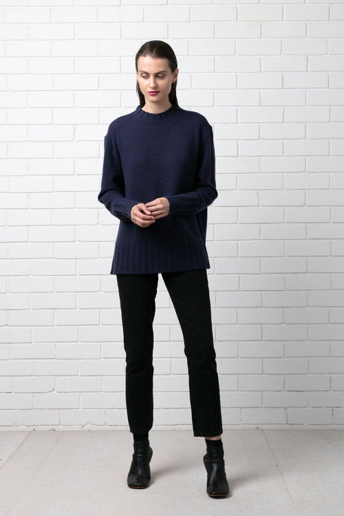 NAVY HIROE KNIT