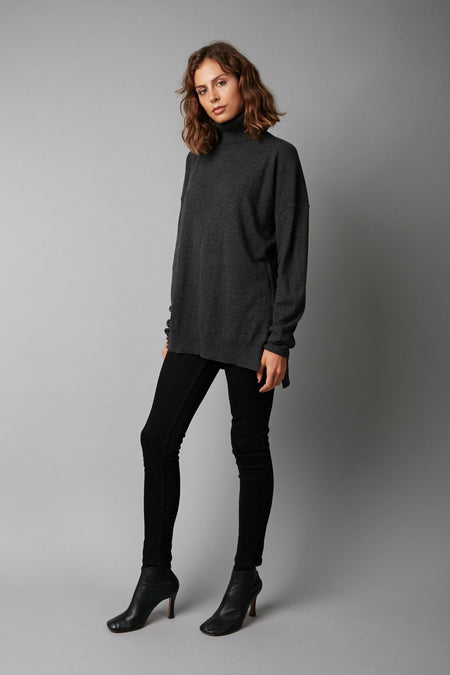 MIDNIGHT HAIRO WOOL CASHMERE KNIT