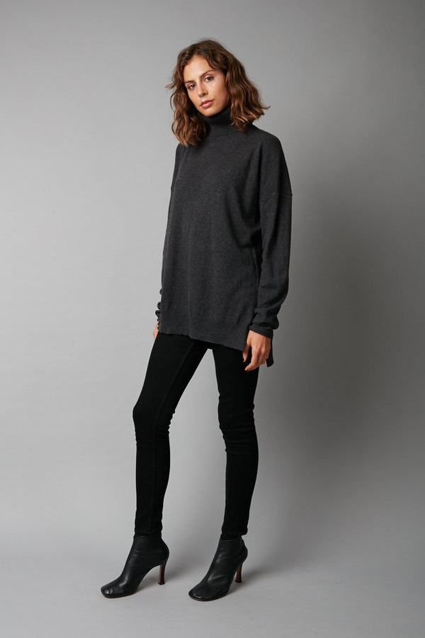 CHARCOAL ONO CASHMERE KNIT