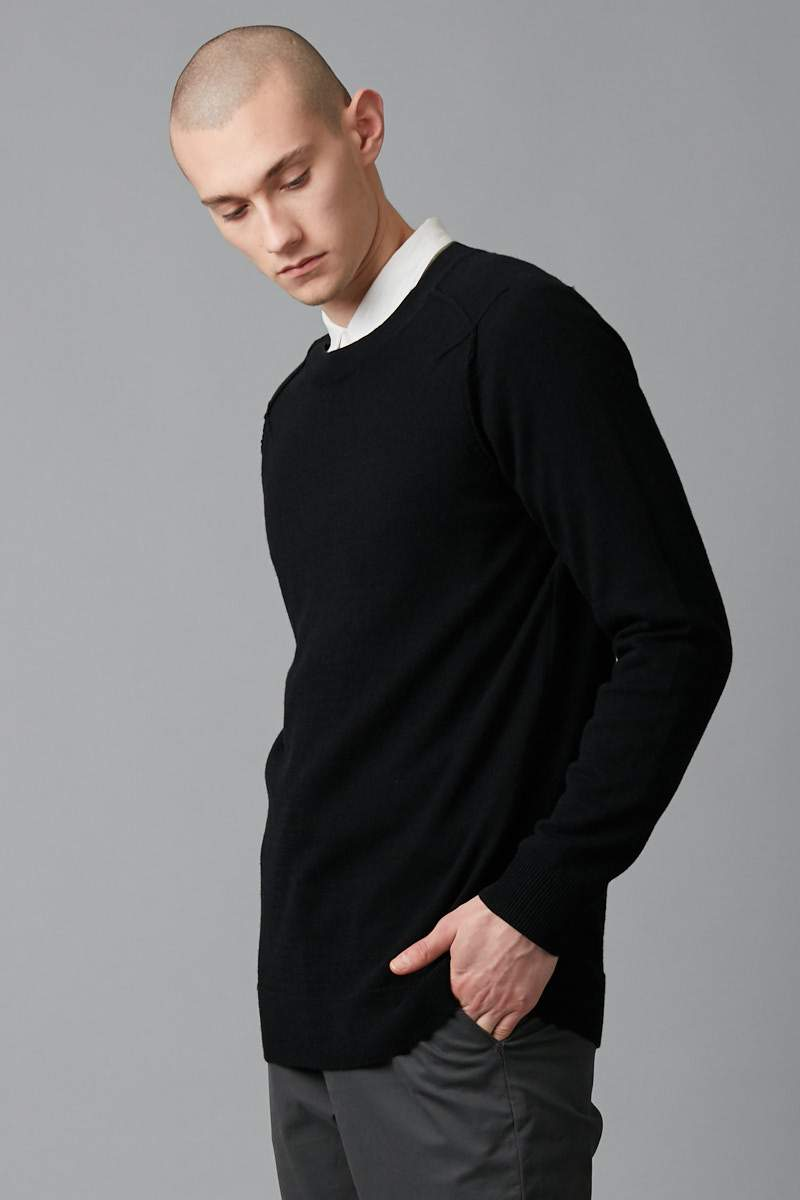 BLACK HAIRO CASHMERE WOOL KNIT - Nique Clothing