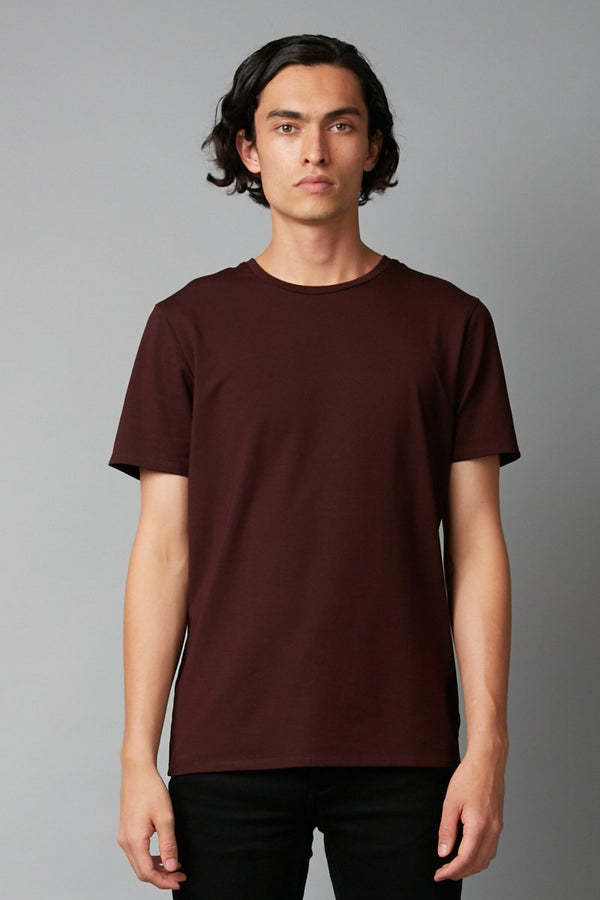 BORDEAUX SLIM COTTON TEE
