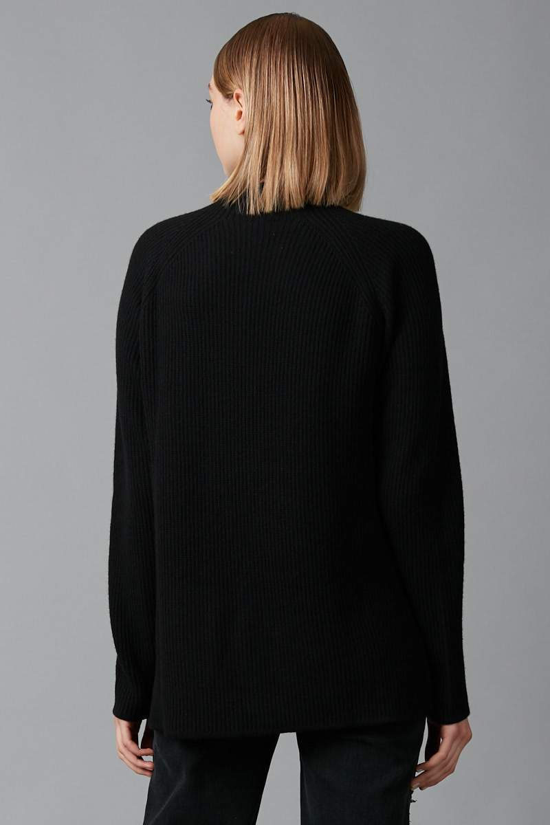 BLACK FUMINO MERINO KNIT - Nique Clothing