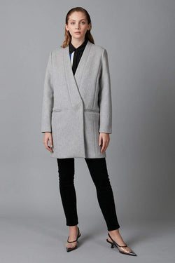 GREY AIYA WOOL BLEND COAT