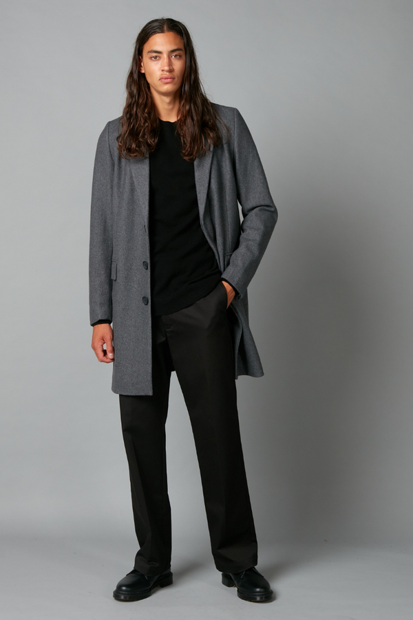 Charcoal Unisex Harbour Wool Coat