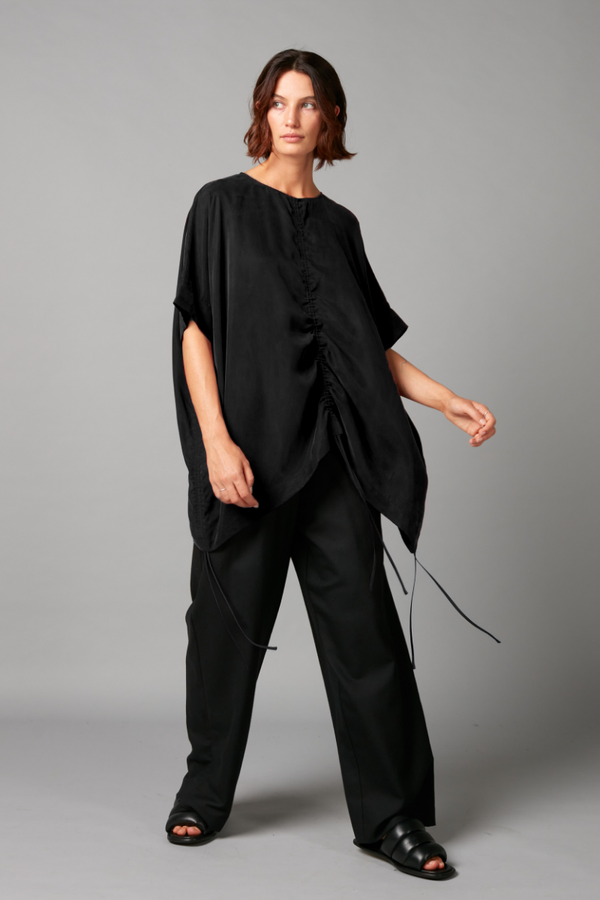 Black Heiho Cupro Viscose Top