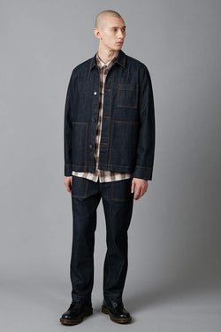 INDIGO WORKWEAR DENIM JACKET
