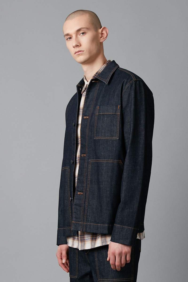 INDIGO WORKWEAR DENIM JACKET - Nique Clothing