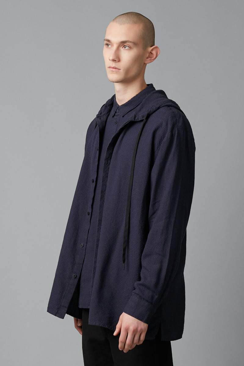 INK UNISEX STREET HOODED RELAXED SHIRT - Nique Clothing
