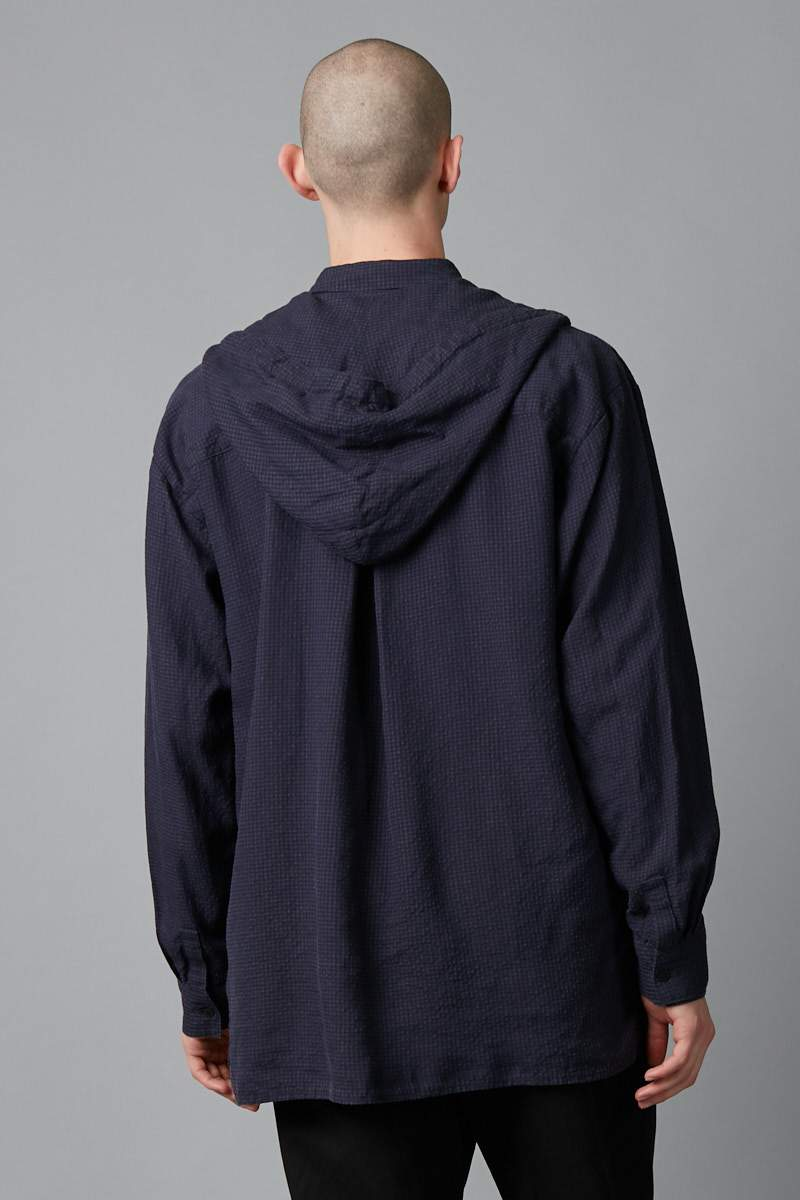 INK UNISEX STREET HOODED RELAXED SHIRT