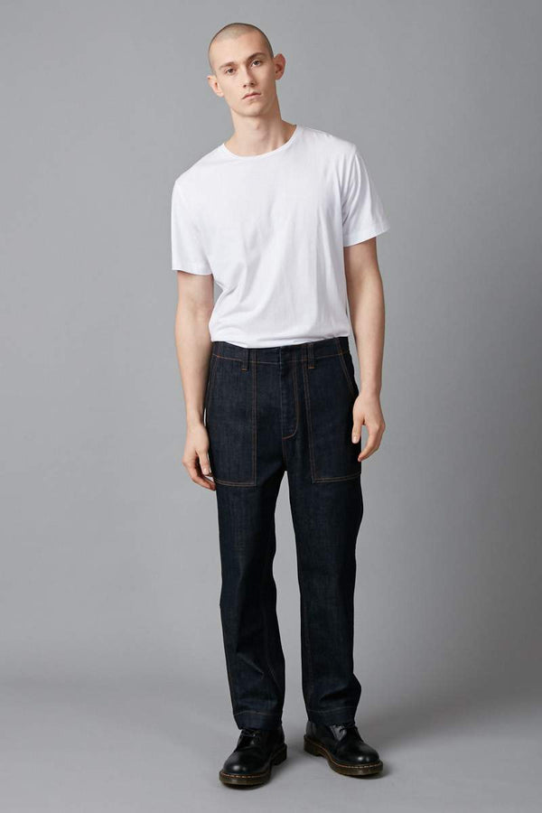 INDIGO KOSHIDA DENIM PANT - Nique Clothing