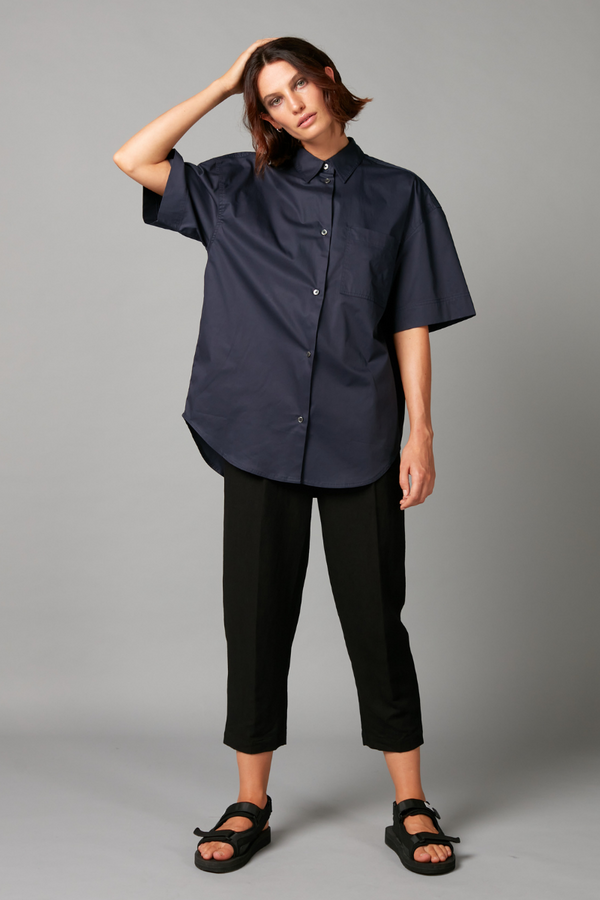 Ink Air Cotton Oversized Shirt