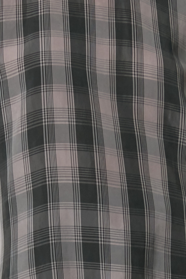 Charcoal And Black Check Helium Cupro Top