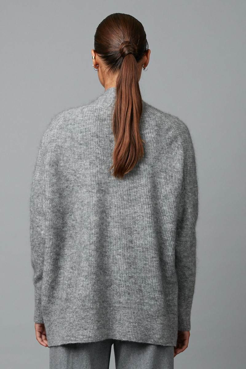 GREY AKANE KNIT CARDIGAN - Nique Clothing