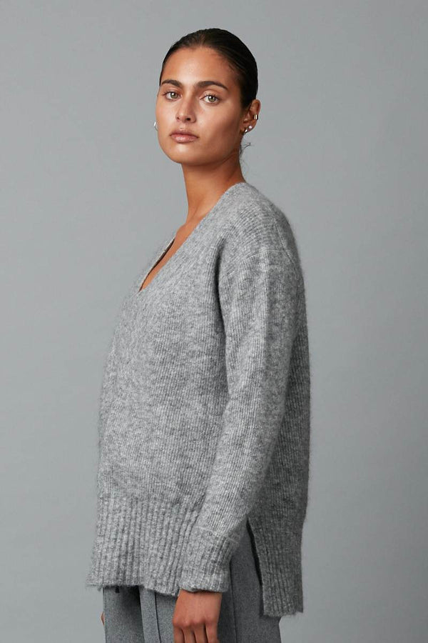 GREY ANGLE OVERSIZED JUMPER - Nique Clothing