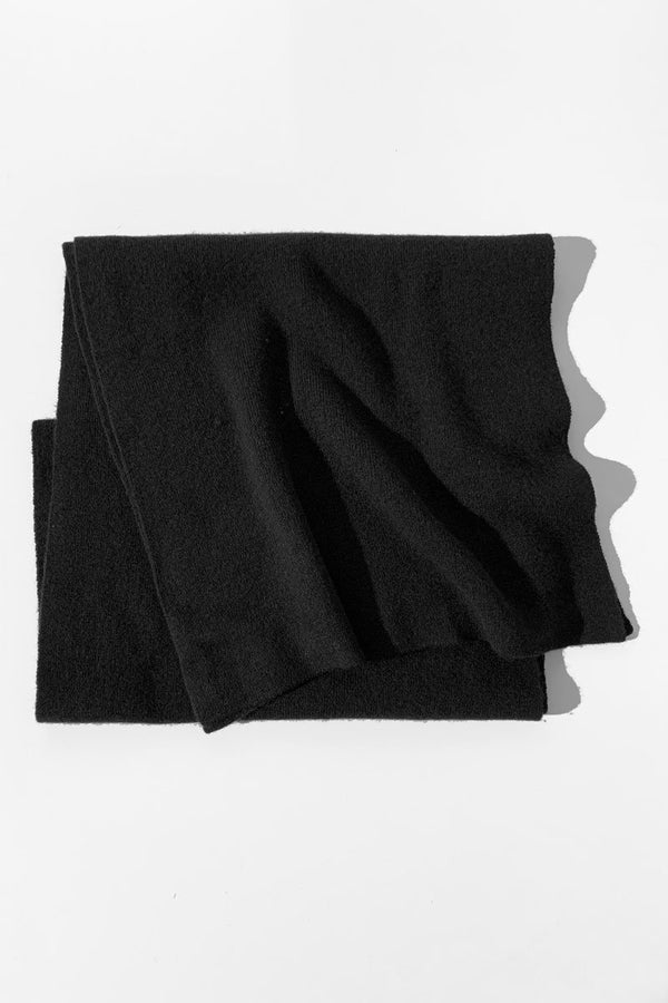 BLACK MERINO WOOL IEKO SCARF - Nique Clothing