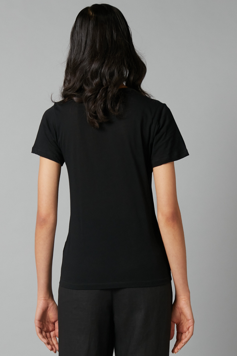 Black Kazoko Cotton Tee