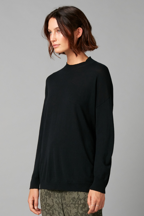Black Michi Merino Cashmere Knit