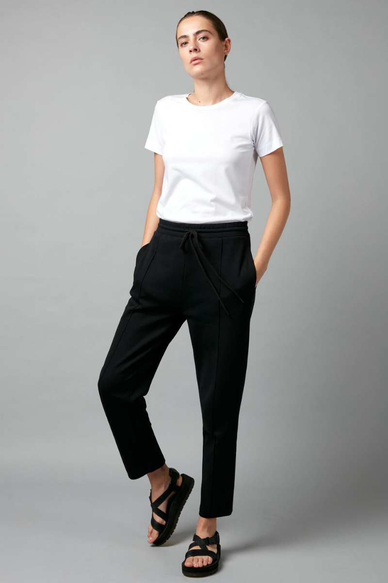 Black Thriller Cotton Sporty Pants