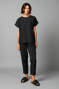 Black Wai Tencel Cotton Top