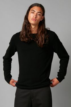 Black Yohji Merino Wool And Cashmere Knit