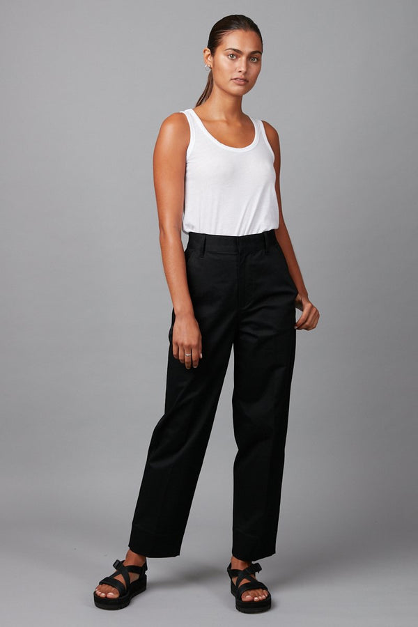 BLACK UNISEX COCOON COTTON PANT