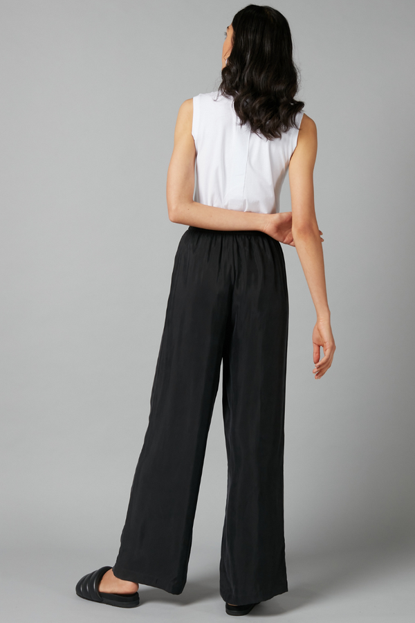 Black Escape Cupo Viscose Wide Leg Pant